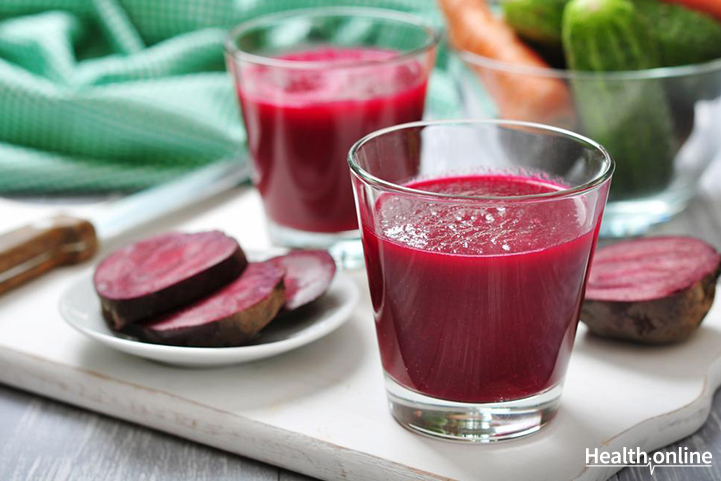 Red cabbage, beet, and celery juice