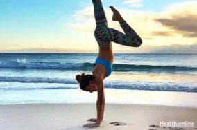 Arm balancig yoga pose
