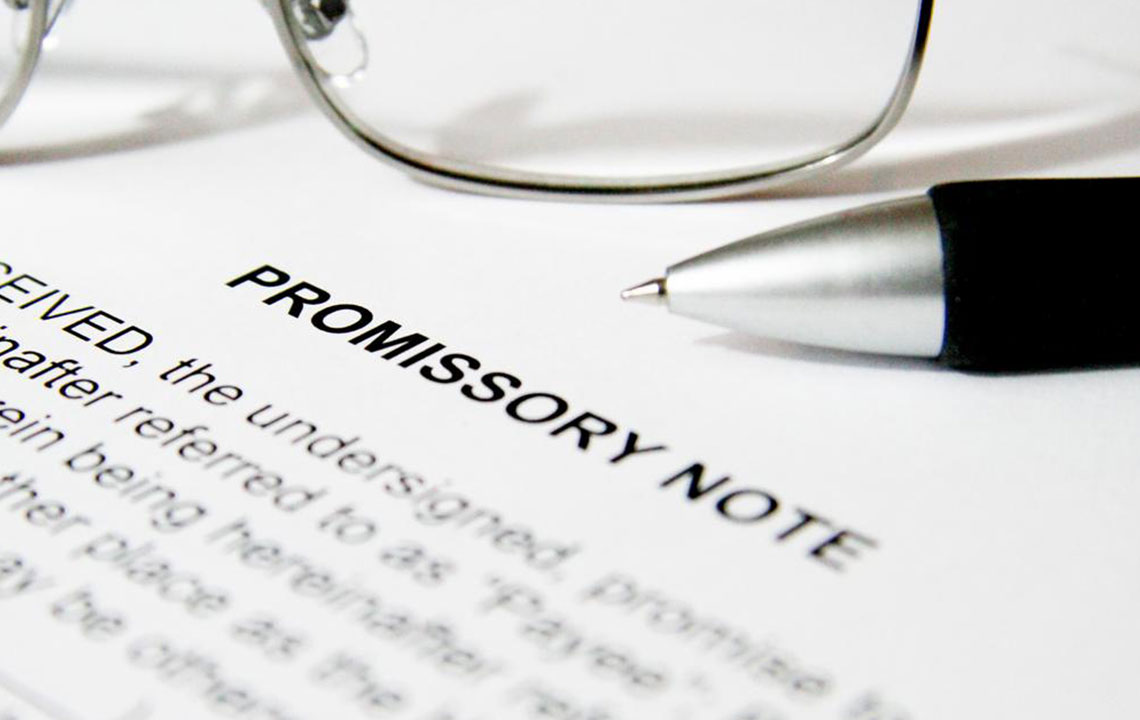 Key terms found in a promissory note