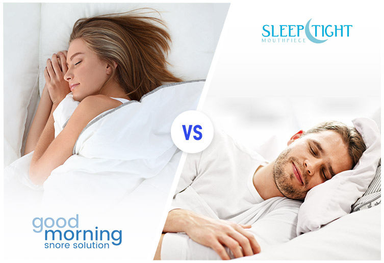 Good Morning Snore Solution vs. SleepTight Mouthpiece